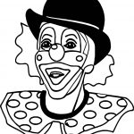 Realistic Clown Coloring Page