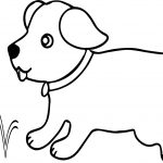 Run Dog With Tennis Ball Coloring Page