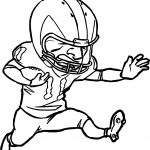 Running Player Playing Football Coloring Page
