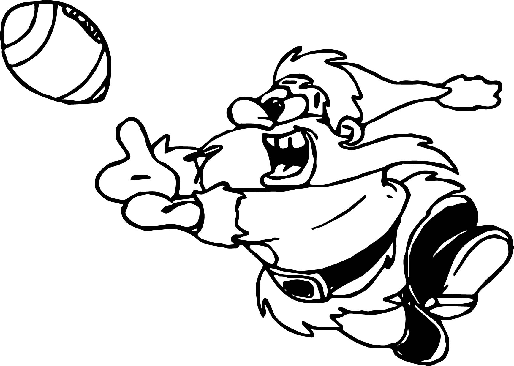 Santa Playing American Football Coloring Page
