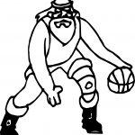 Santa Playing Basketball Playing Basketball Coloring Page