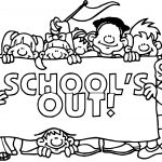 Schools Out Coloring Page