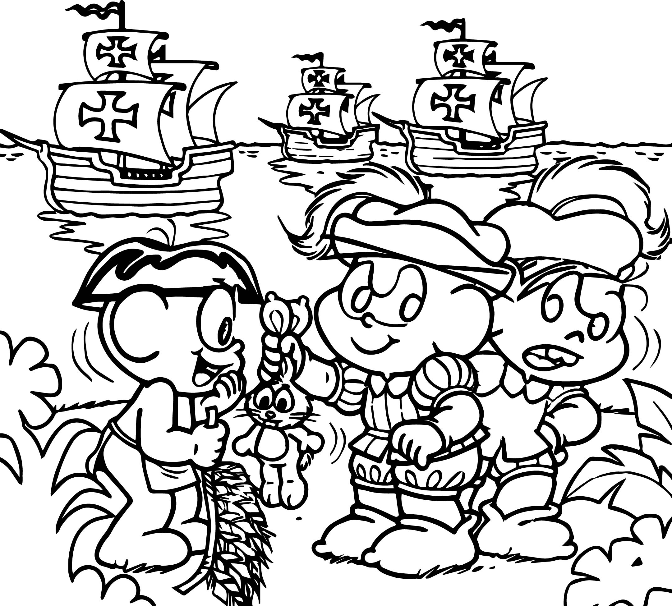 Ship Turma Da Monica Coloring Page