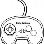 Simple Game Pad Playing Computer Games Coloring Page