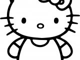 Simple Hello Kitty Coloring Page