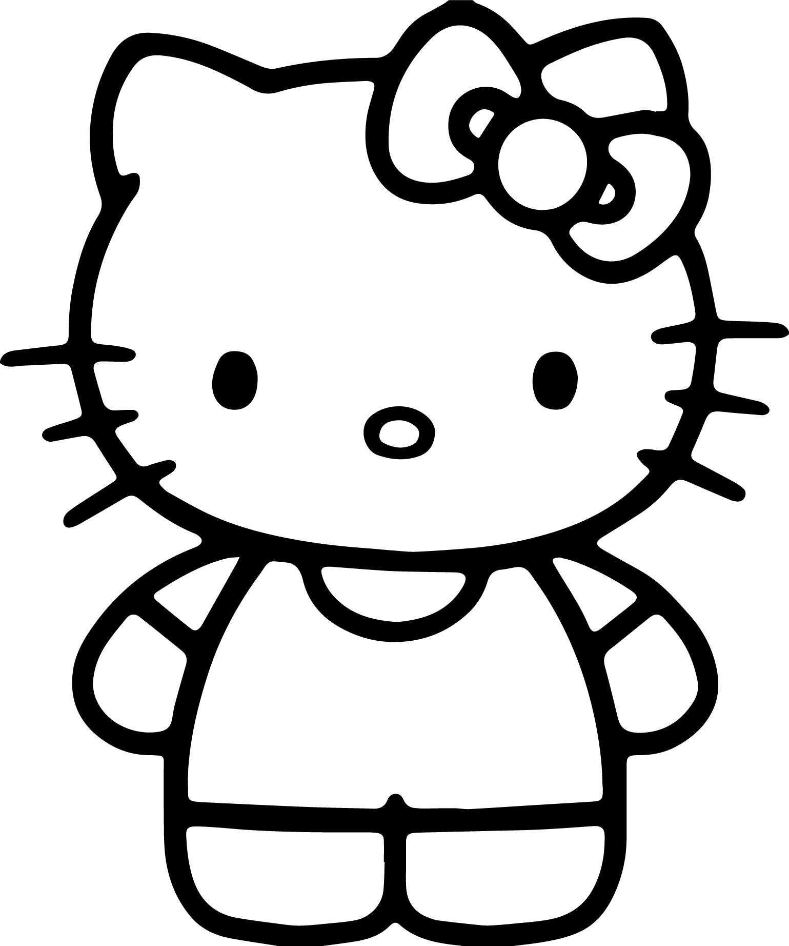 simple hello kitty coloring page - Coloring Pages Simple