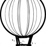 Sketch Air Balloon Coloring Page
