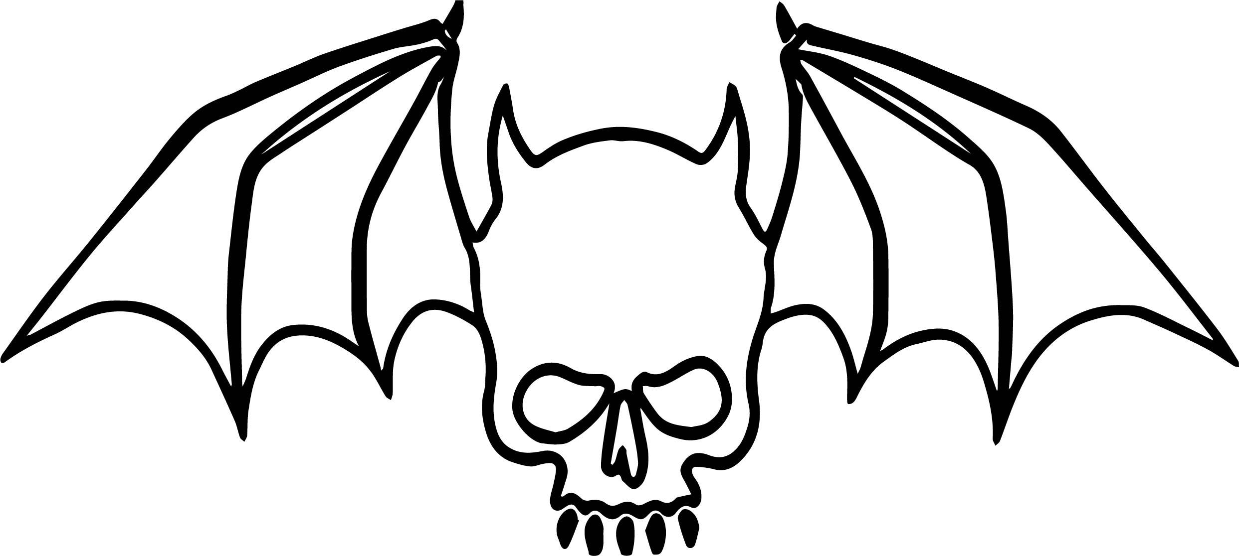 Skull Bat Vampire Coloring Page
