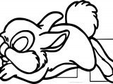 Sleeping Disney Bambi Thumber Bunny Cartoon Coloring Page