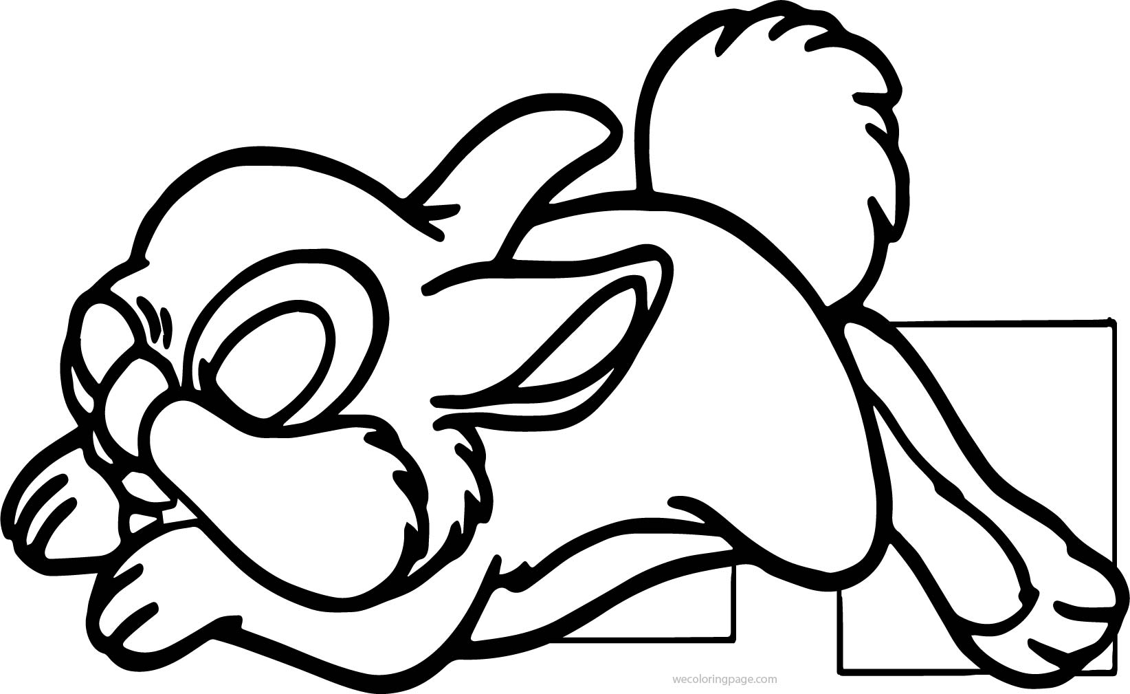 Sleeping disney bambi thumber bunny cartoon coloring page for Sleeping coloring pages