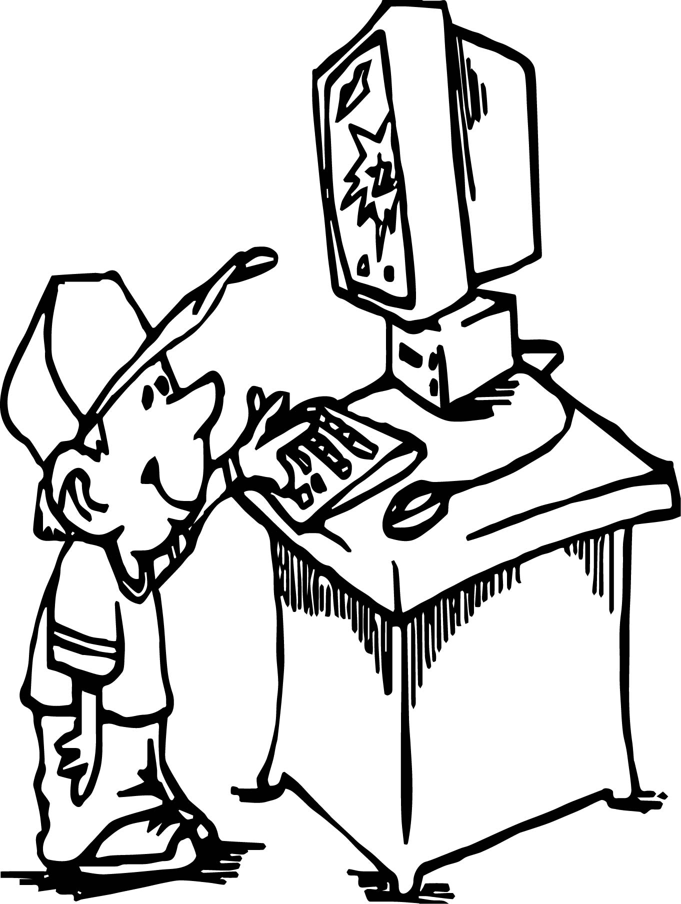 small boy playing computer games coloring page wecoloringpage