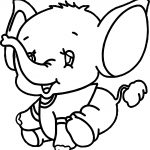Small Elephant Coloring Page