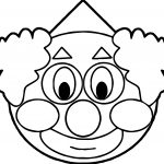Smiley Clown Coloring Page