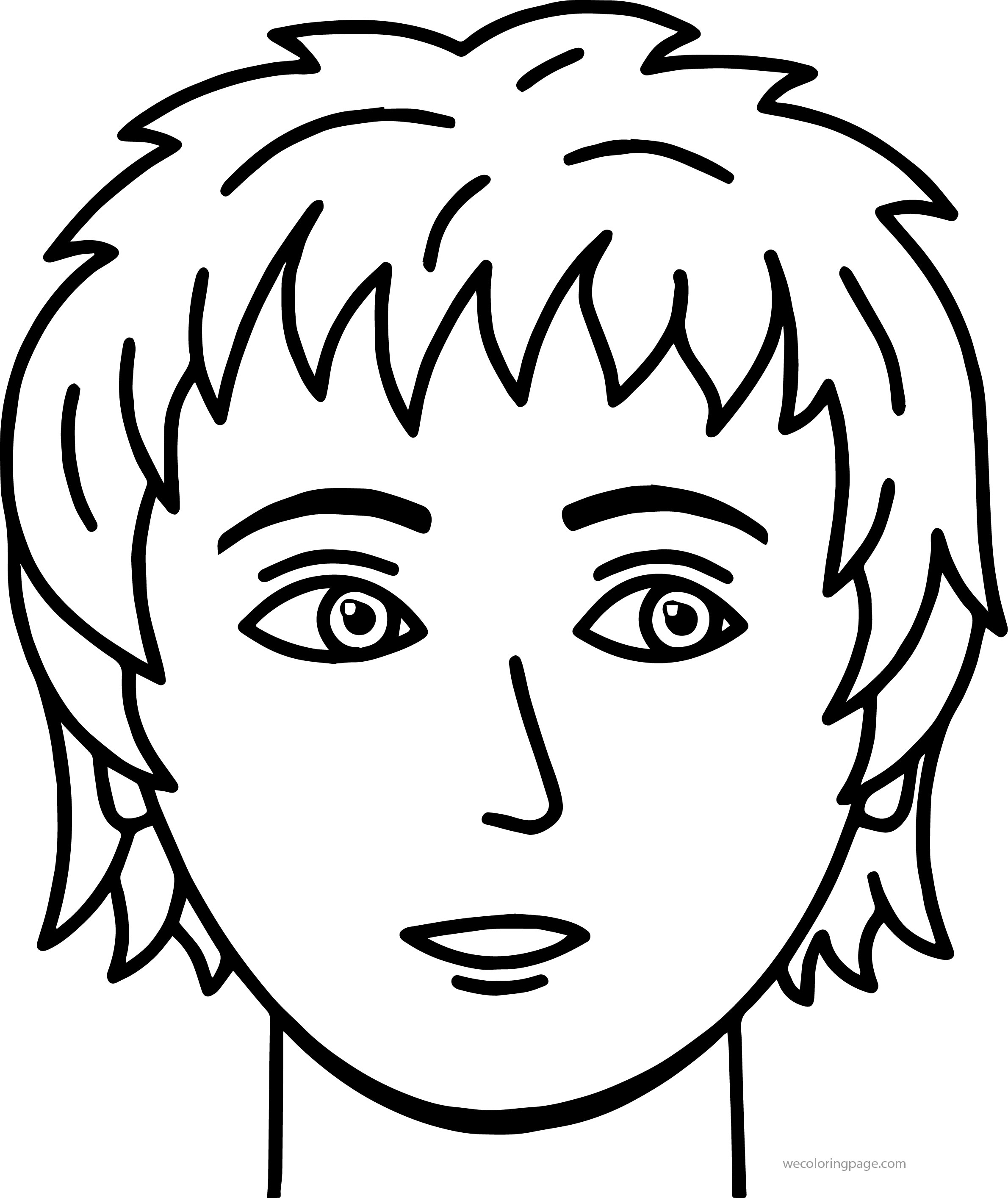 face coloring pages soccer boy face coloring page
