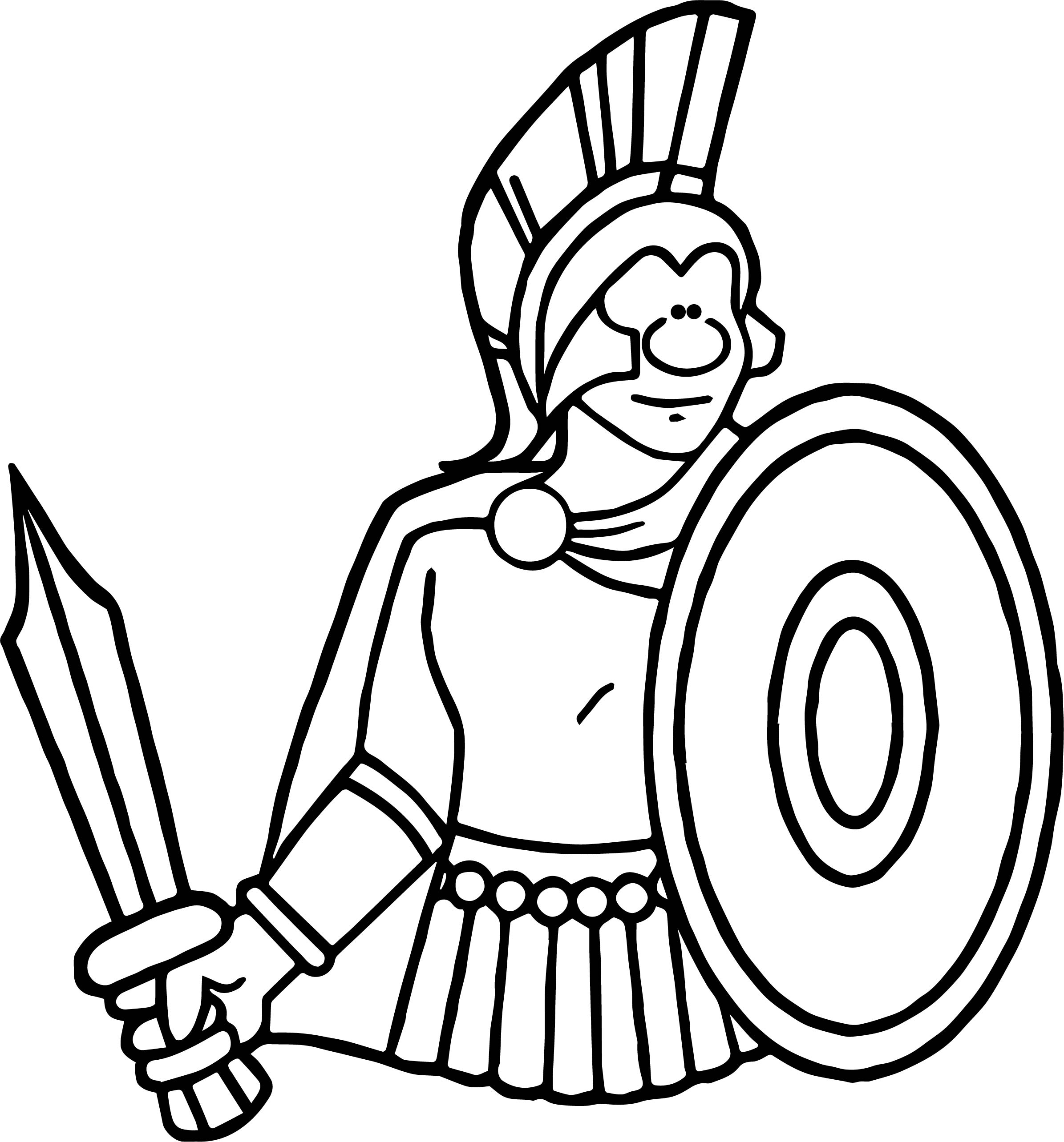 spartan rome ancient coloring page