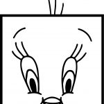 Square Tweety Coloring Page