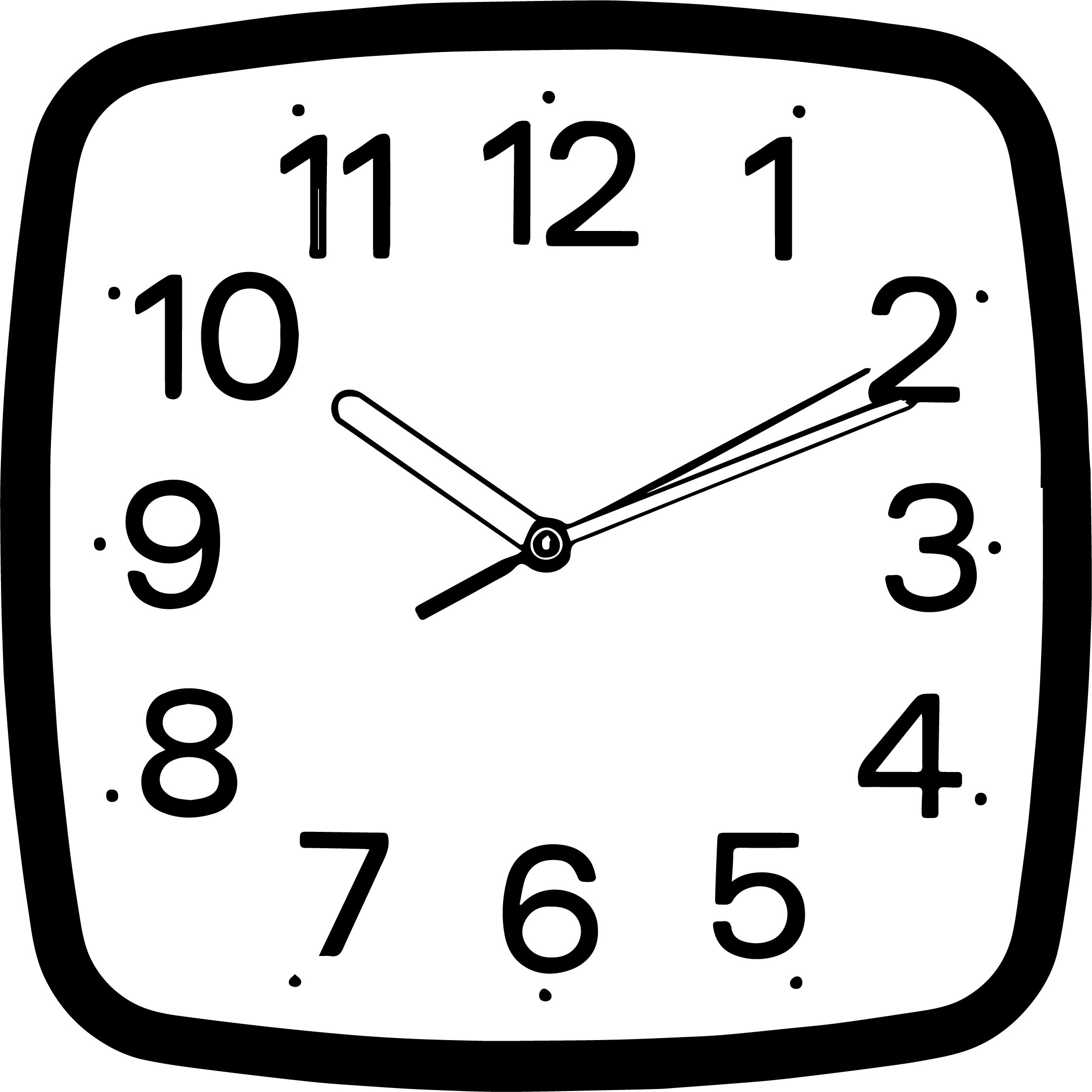 Square wall clocks coloring page wecoloringpage square wall clocks coloring page amipublicfo Choice Image