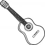 Strings Guitar Playing The Guitar Coloring Page