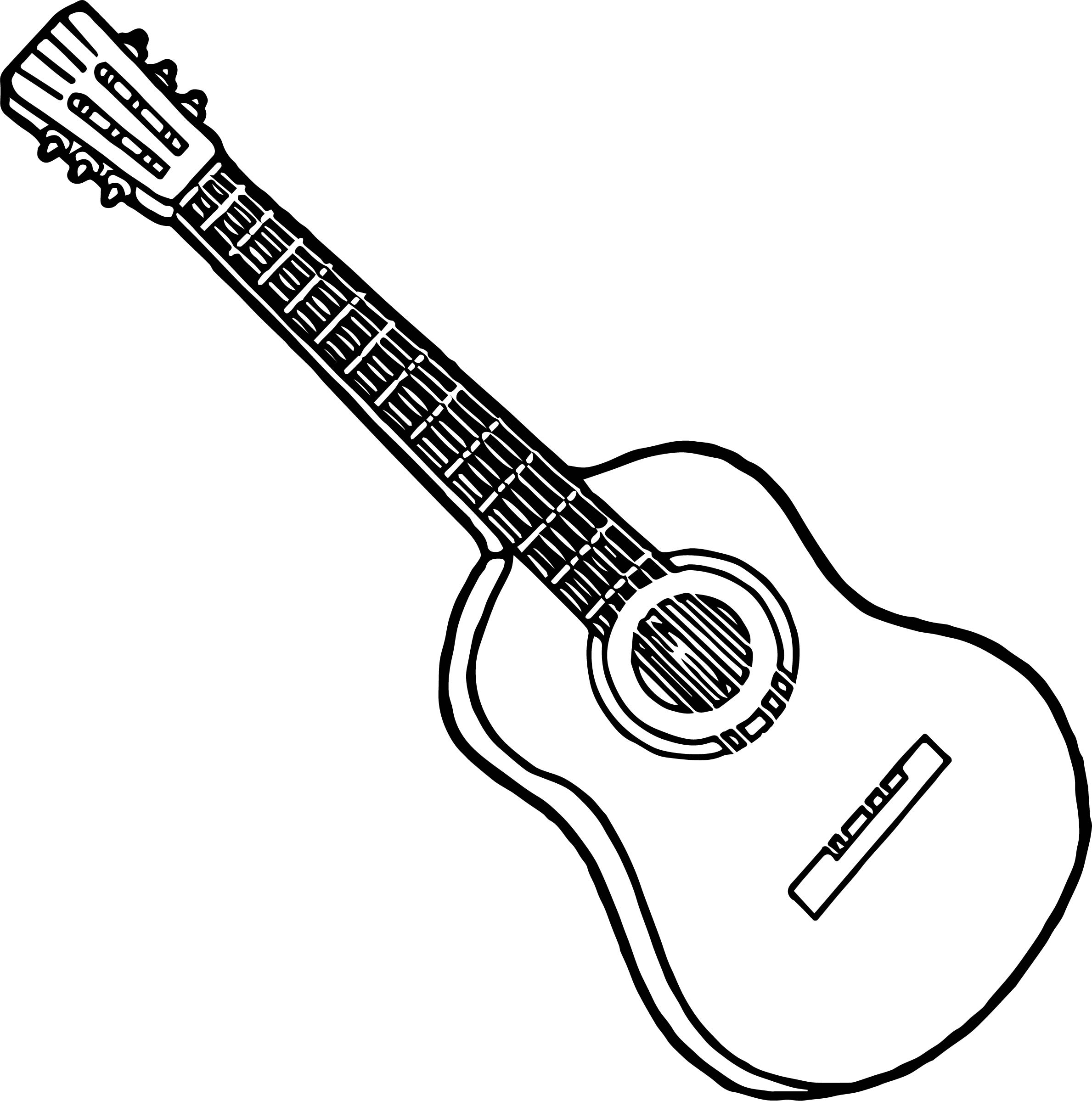 strings guitar playing the guitar coloring page - Guitar Coloring Pages
