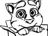 Talking Tom Cat Box Coloring Page