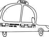 Taxi Mission Driver Car Coloring Page