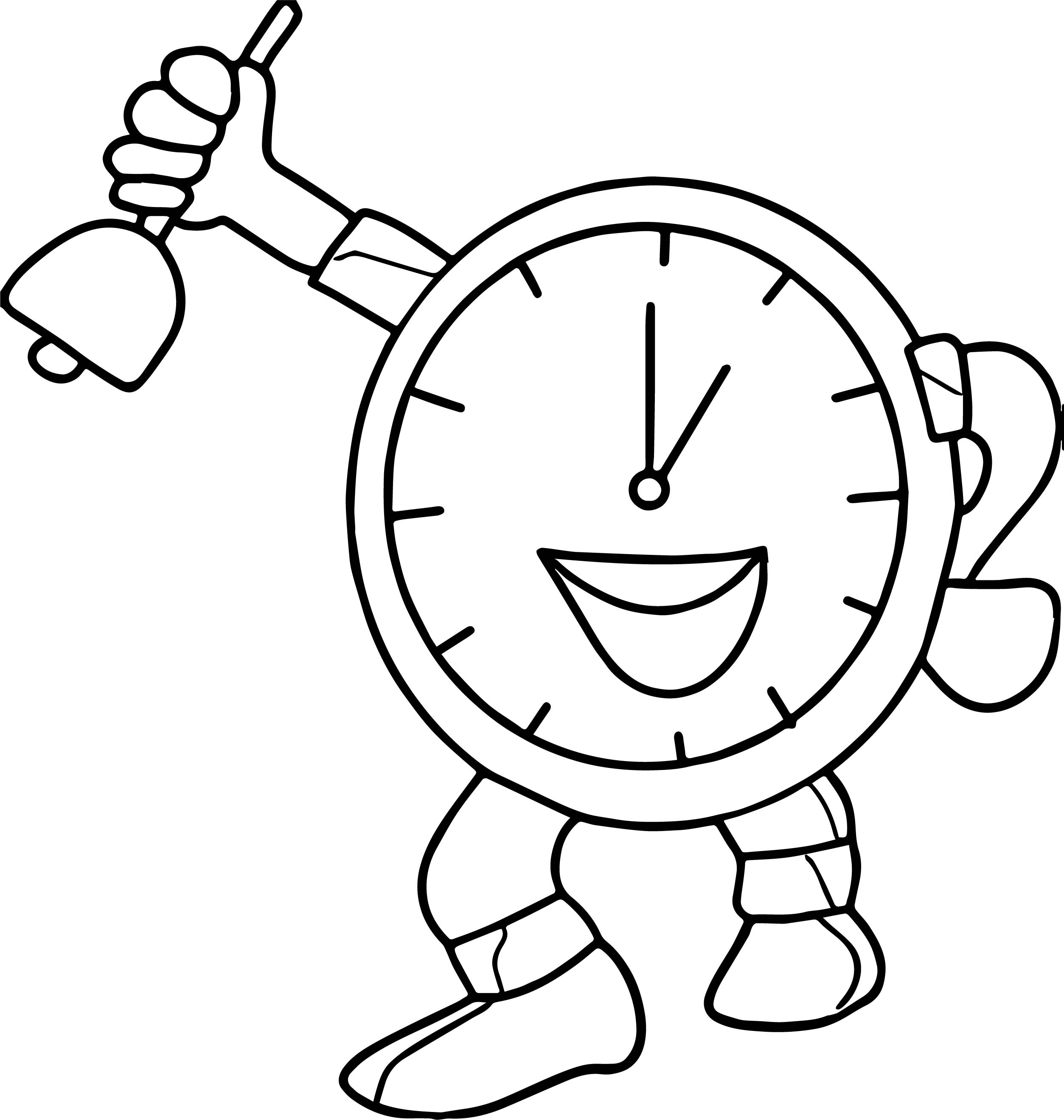 88 Clock Coloring Pages