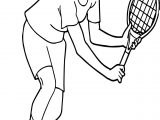 Tennis Forehand Coloring Page