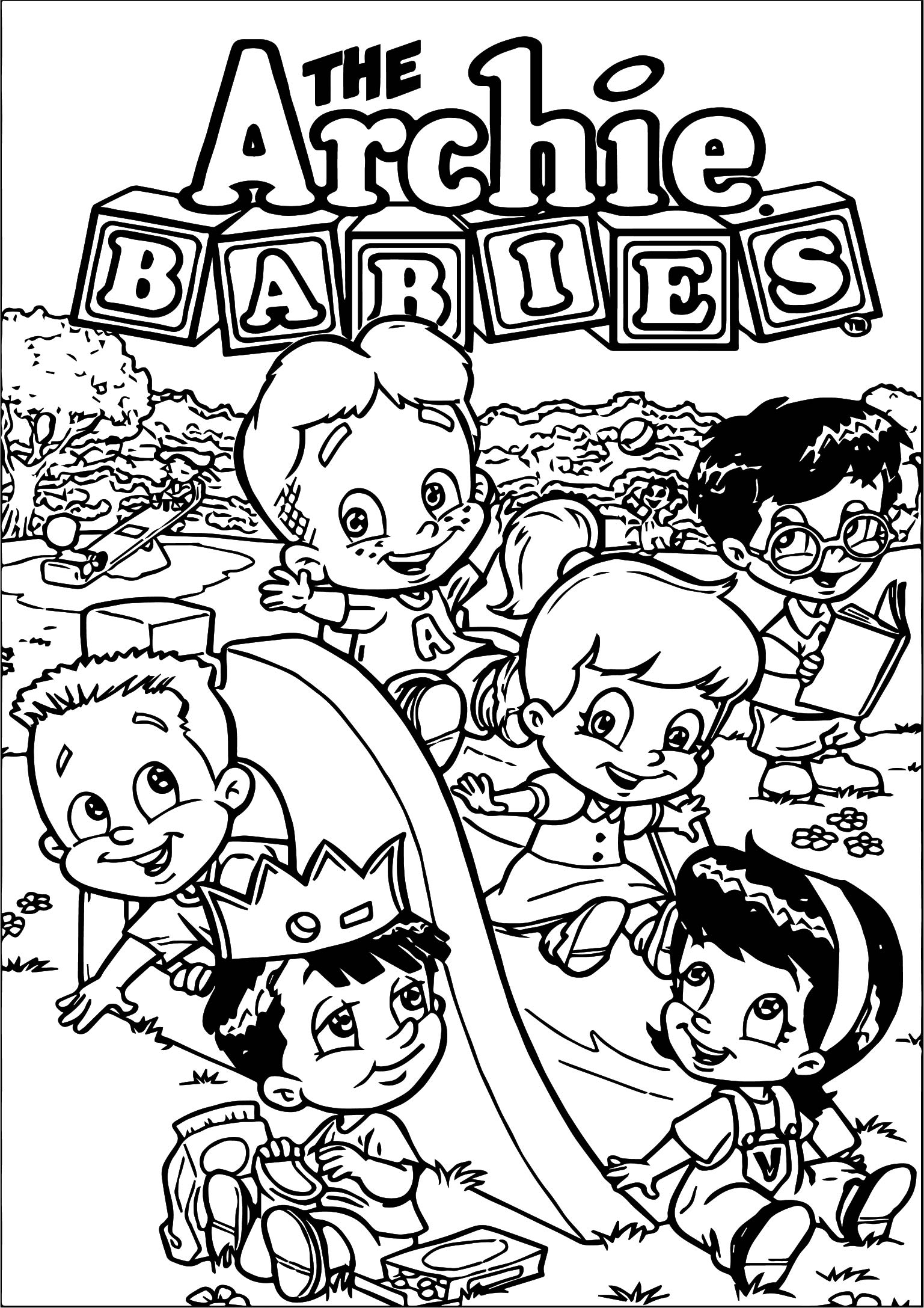 The Archie Babes Coloring Page
