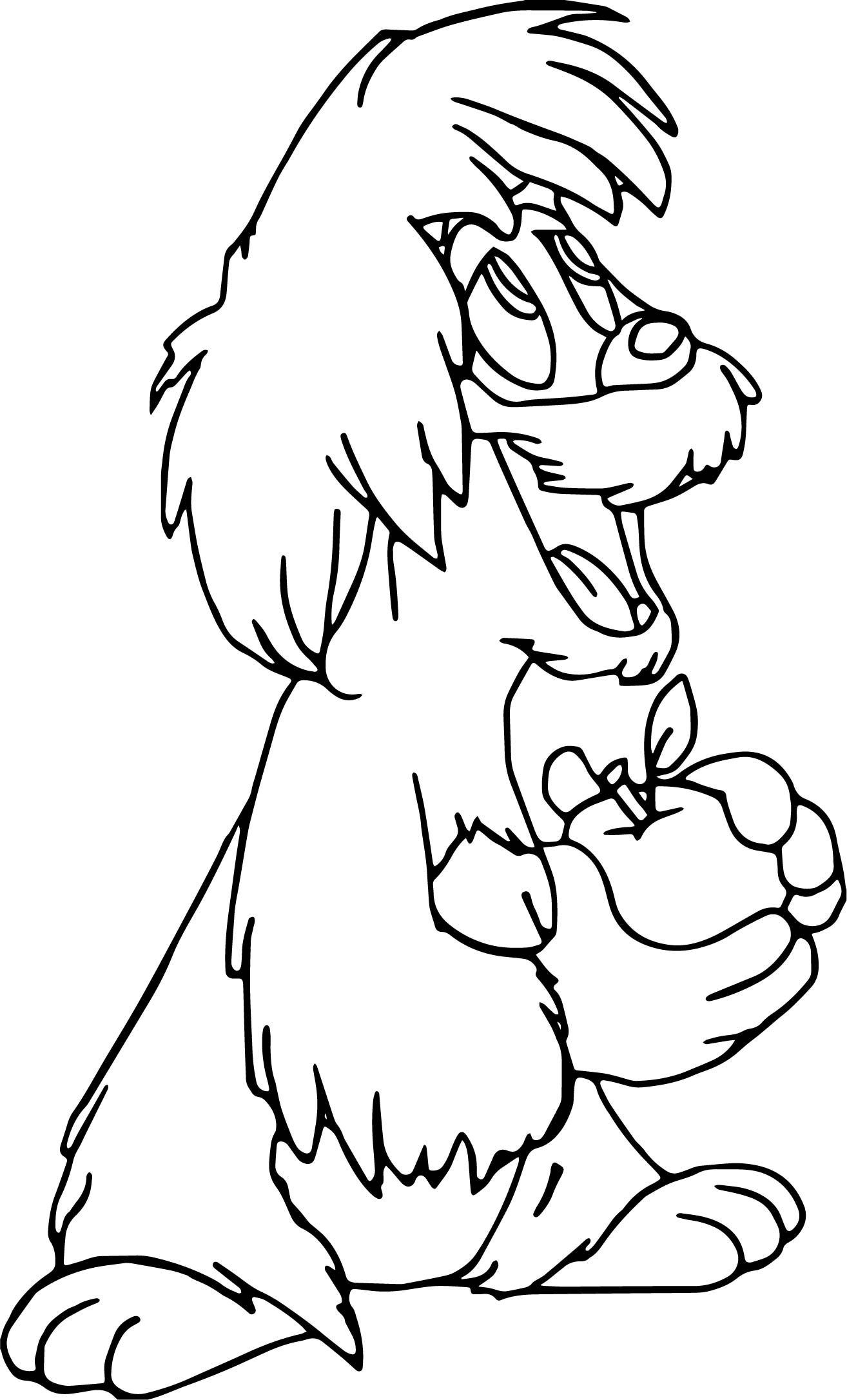 The Black Cauldron Gurgi Coloring Page Wecoloringpage The Black Cauldron Coloring Pages