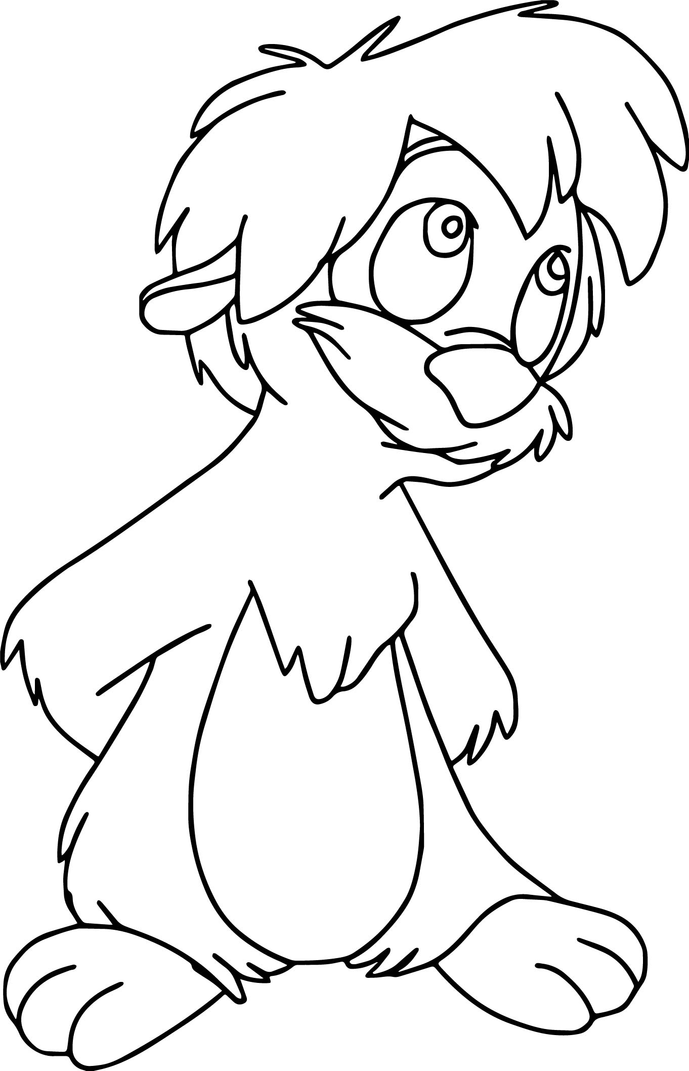 the black cauldron gurgi cute coloring page wecoloringpage