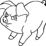 The Black Cauldron Henwen Pig Coloring Page