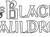 The Black Cauldron Title Text Coloring Page