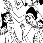 The Emperor New Groove Disney Family Coloring Pages