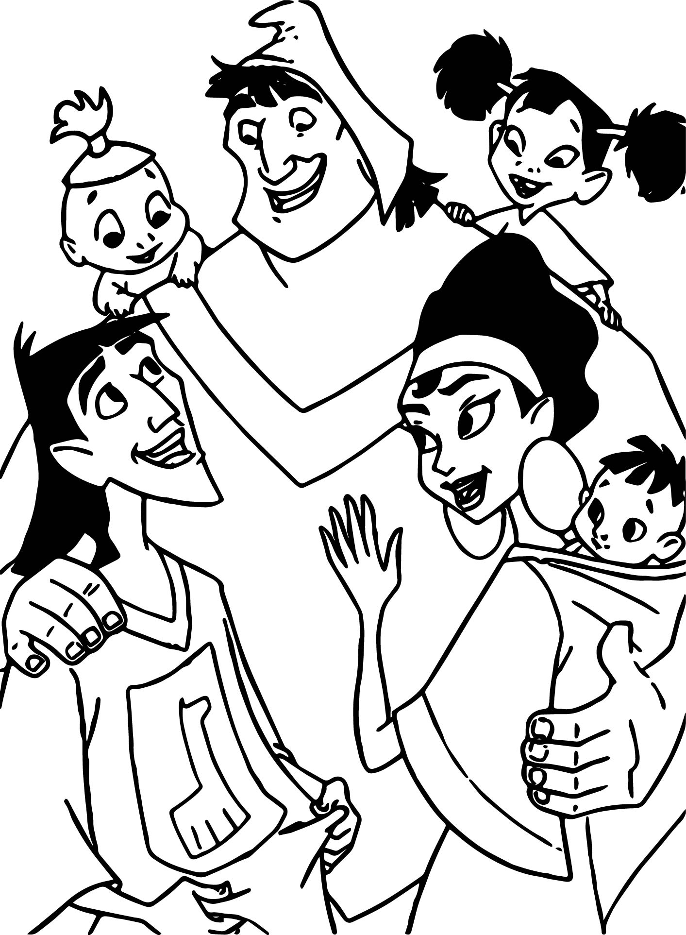 the emperor new groove disney family coloring pages wecoloringpage