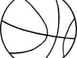 Thin Basketball Ball Coloring Page