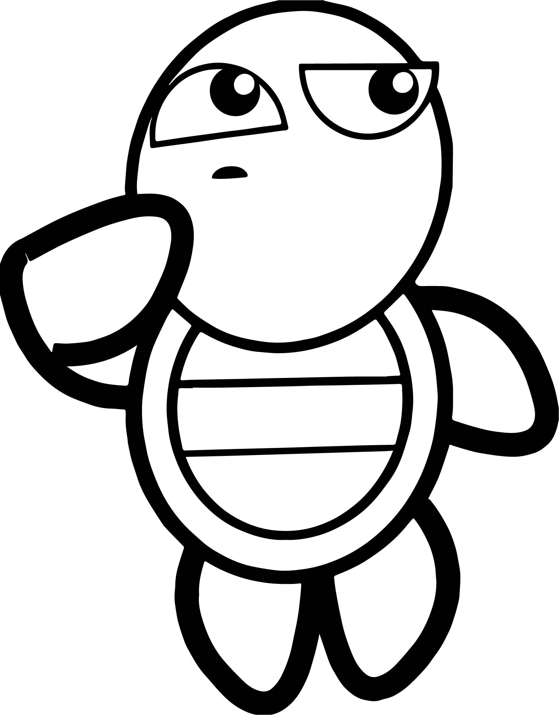 thinking tortoise turtle coloring page