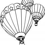 Three Air Balloon Coloring Page