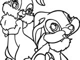 Thumper Thumpers Sisters and Miss Two Bunny Coloring Pages