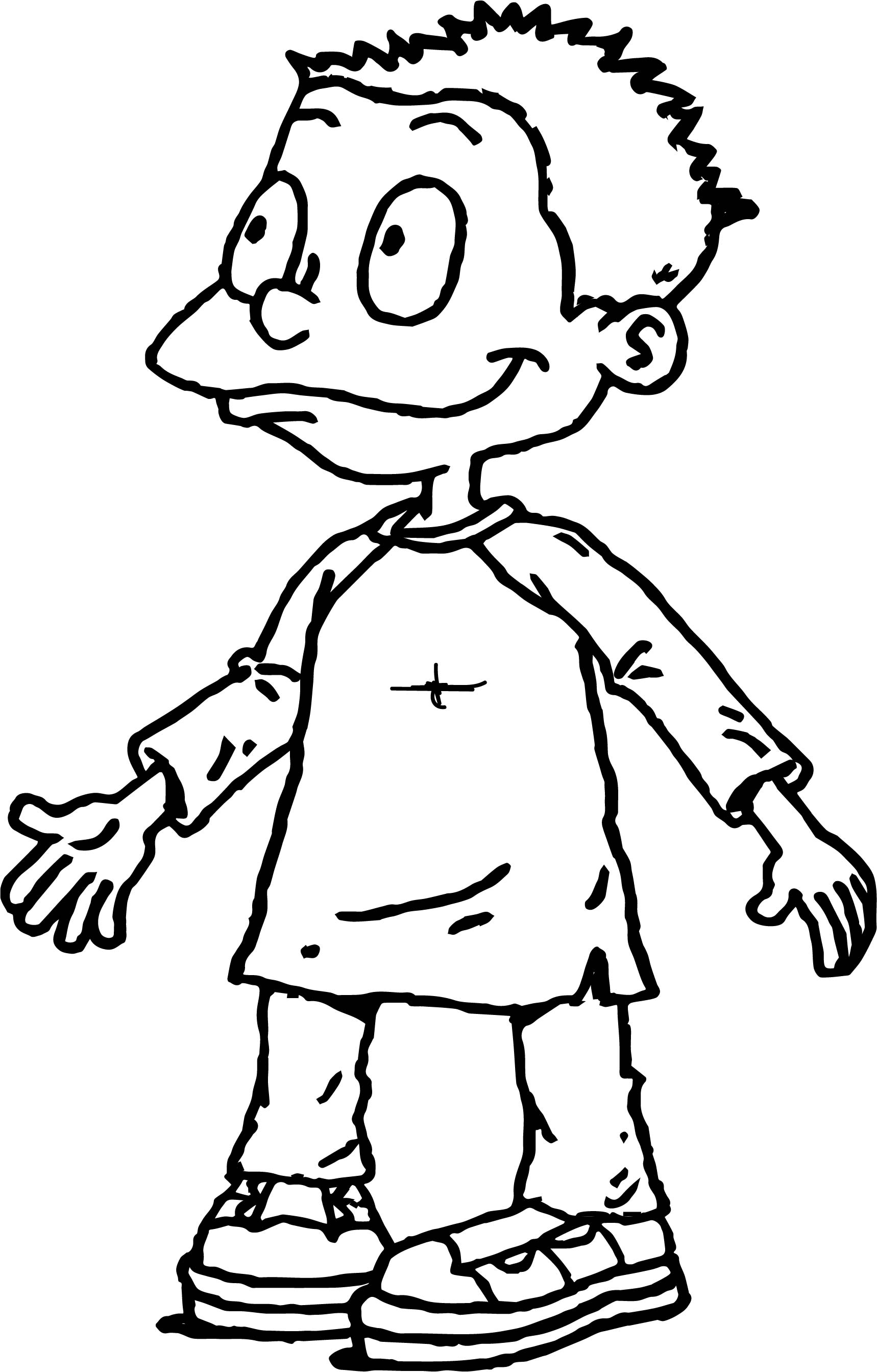 Tommy Pickles Rugrats All Grown Up Coloring Page | Wecoloringpage