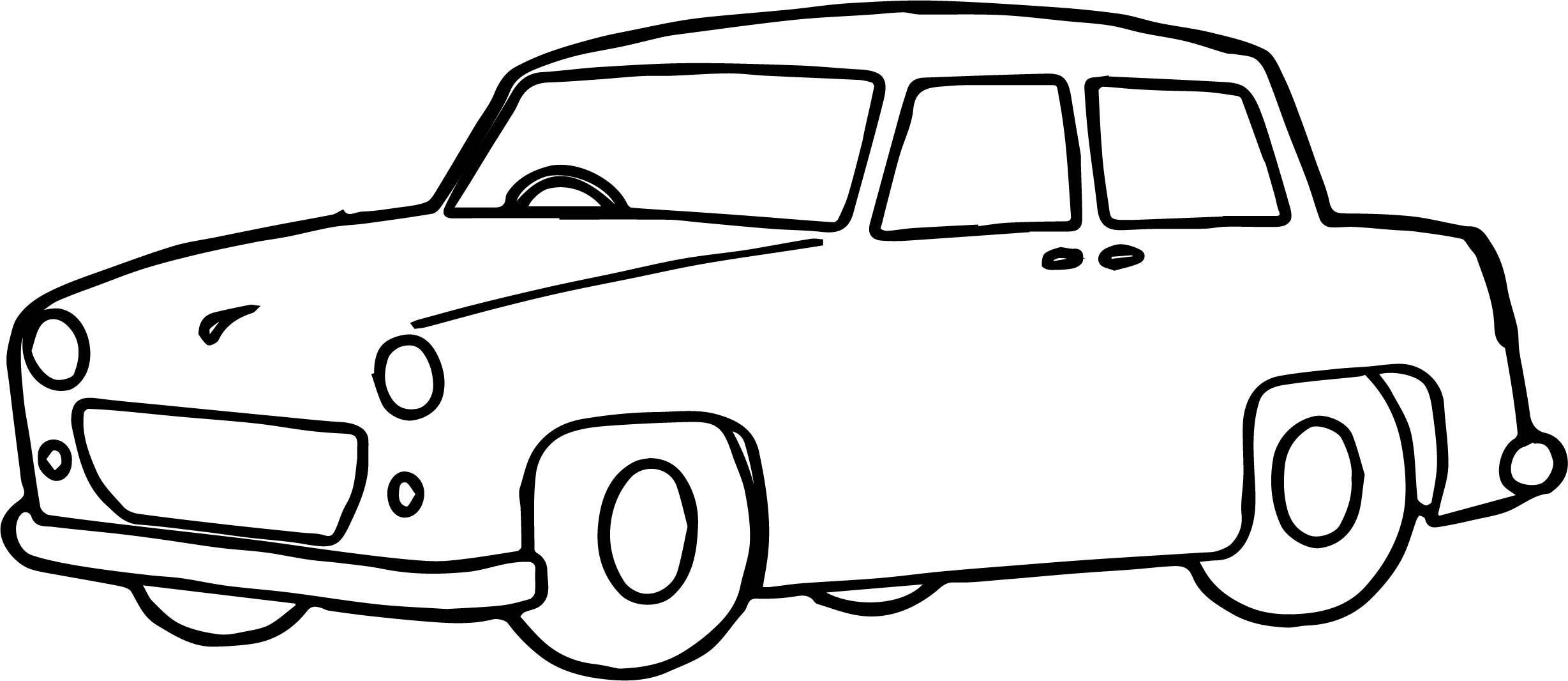 Toy Car Basic Coloring Page