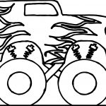 Toy Car Big Monster Coloring Page