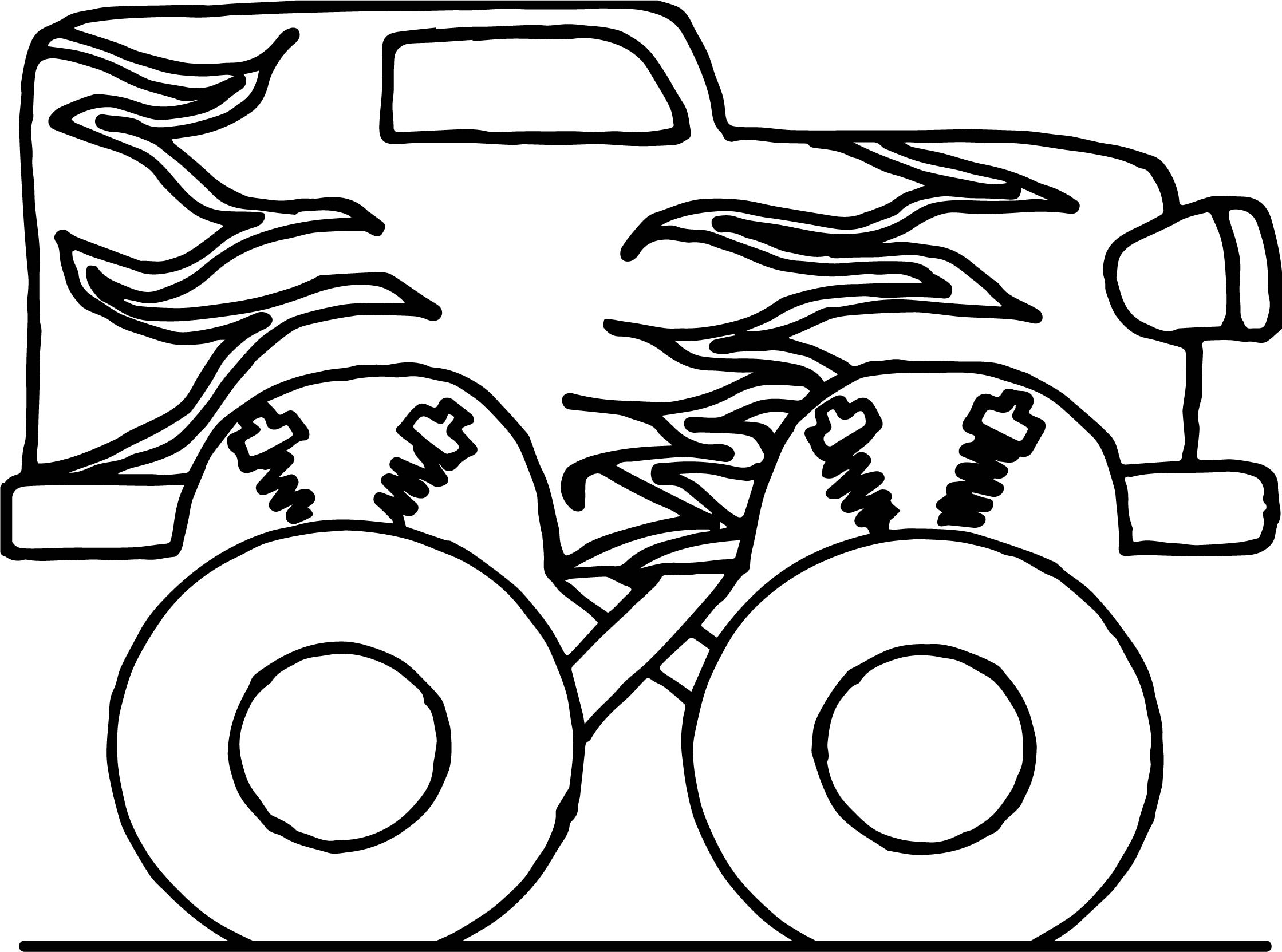 toy car big monster coloring page wecoloringpage