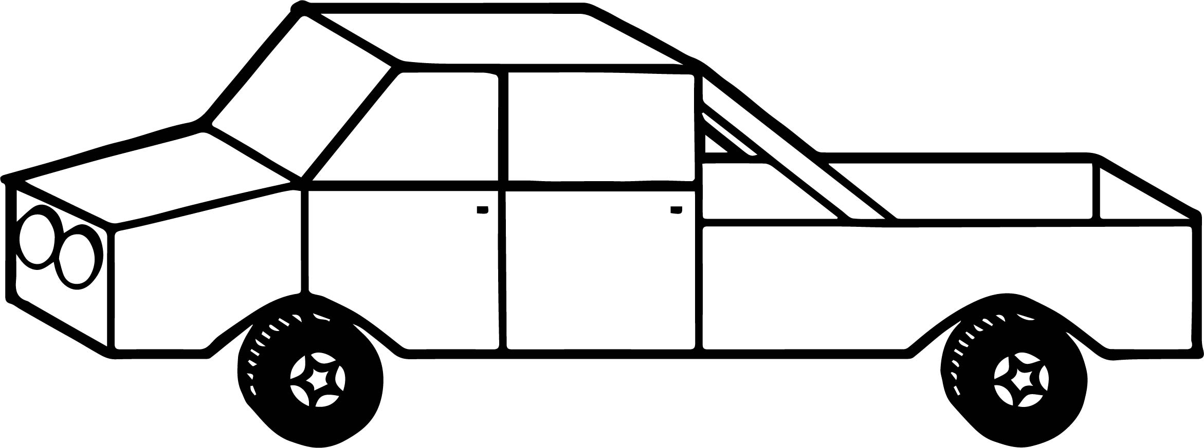 Toy Car Box Coloring Page
