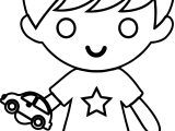 Toy Car Boy Coloring Page