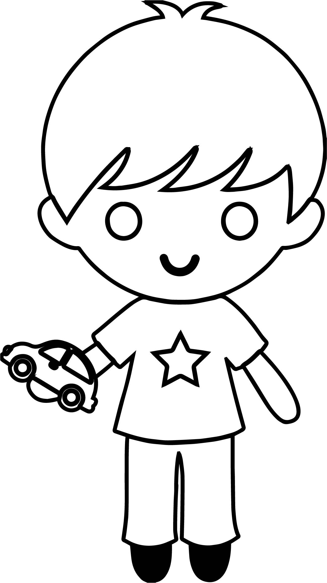 Toy Car Boy Coloring Page
