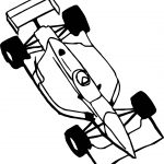 Toy Car Formula Coloring Page