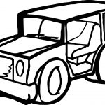 Toy Car Jeep Coloring Page