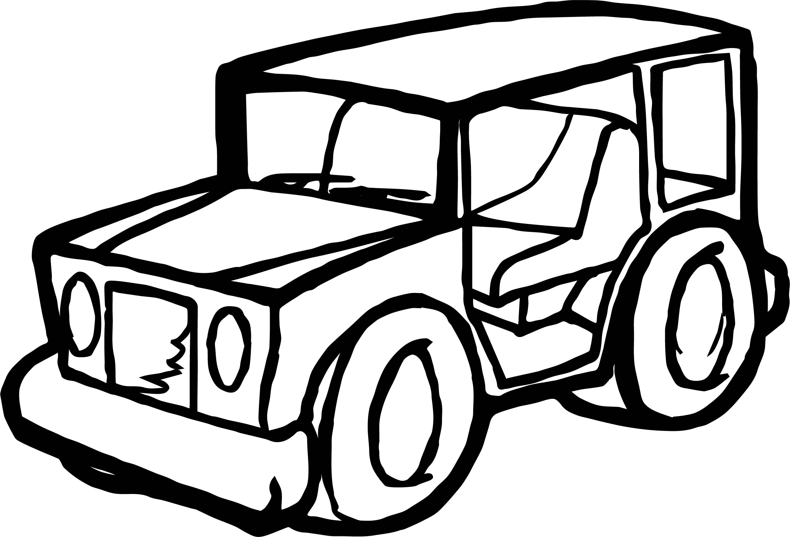 toy car jeep coloring page wecoloringpage