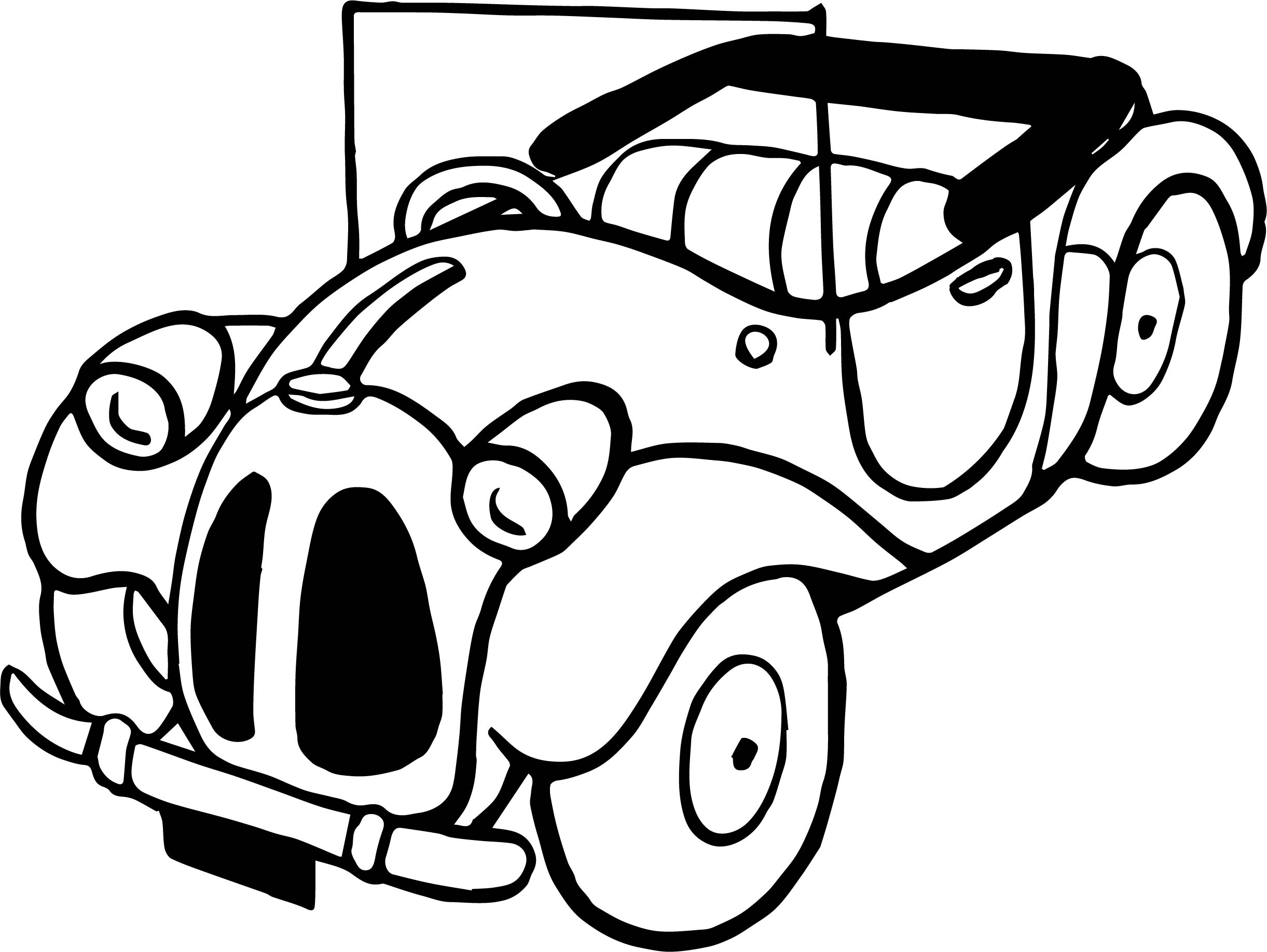 Toy Car Old Car Coloring Page
