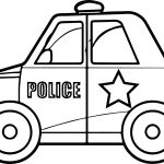 Toy Car Police Coloring Page
